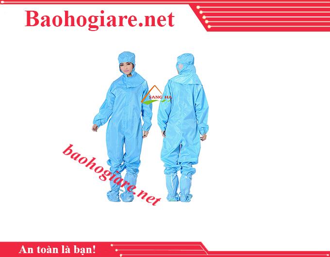 Áo phòng sạch chống tĩnh điện liền quần rời mũ giá rẻ TP.HCM - BẢO HỘ LAO ĐỘNG