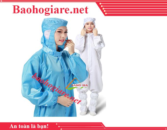Áo phòng sạch chống tĩnh điện liền quần liền mũ giá rẻ TP.HCM - BẢO HỘ LAO ĐỘNG