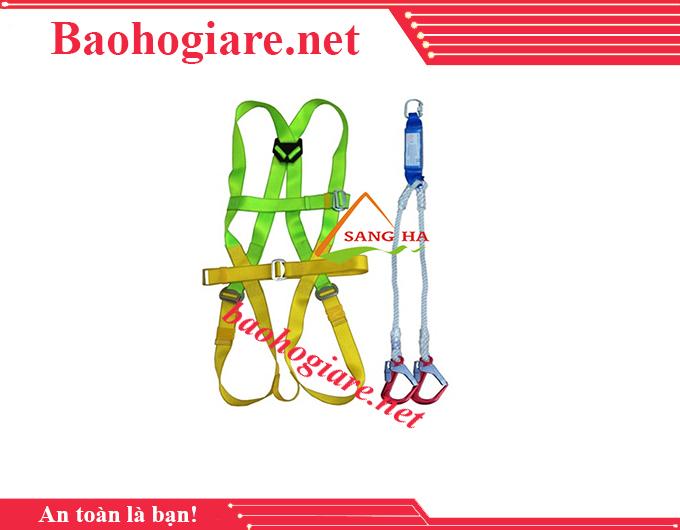 Bộ dây an toàn chống sốc 2 móc nhôm giá rẻ tại TP.HCM - BẢO HỘ LAO ĐỘNG