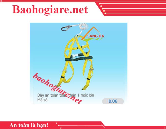 Dây an toàn toàn thân 1 móc lớn - D.06 giá rẻ tại TP.HCM - BẢO HỘ LAO ĐỘNG